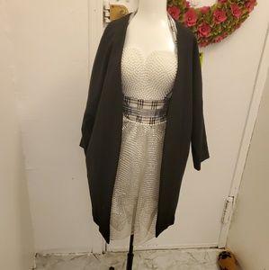 Black long throw jacket